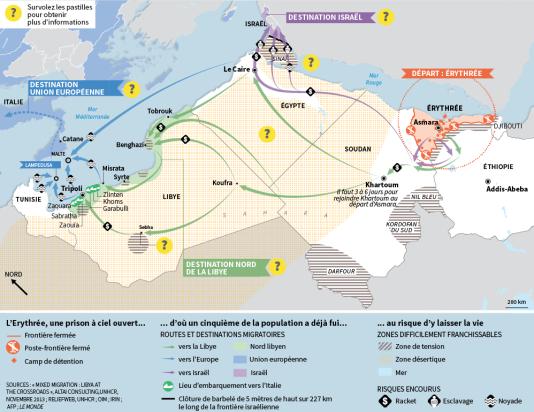 Migrations : la fuite éperdue des Erythréens.