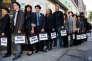 Une manifestation à Londres, en 2011 - année où le chômage a atteint le pic de 8,5 % -, pour que les jeunes, particulièrement touchés par le chômage outre-Manche, trouvent un emploi