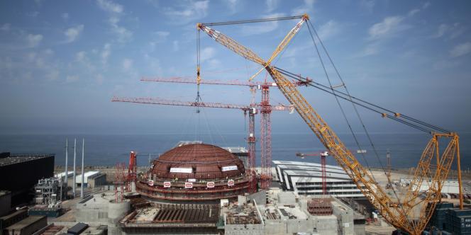 Le chantier de l'EPR de Flamanville en 2013.