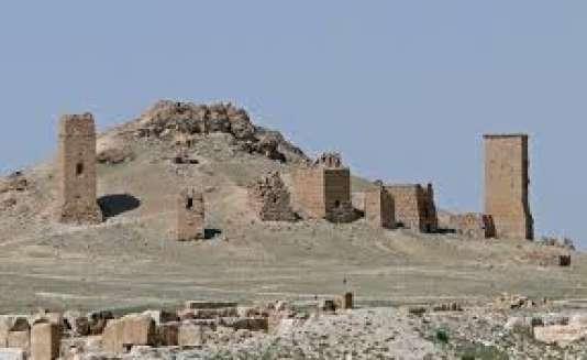 La vallée des tombeaux à Palmyre en Syrie.