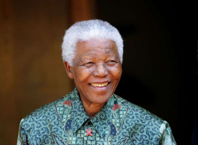 Nelson Mandela, en 2005 à Johannesburg.