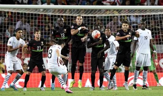 Mathieu Valbuena a permis à la France de s'imposer face au Portugal, à Lisbonne, le 4 septembre.