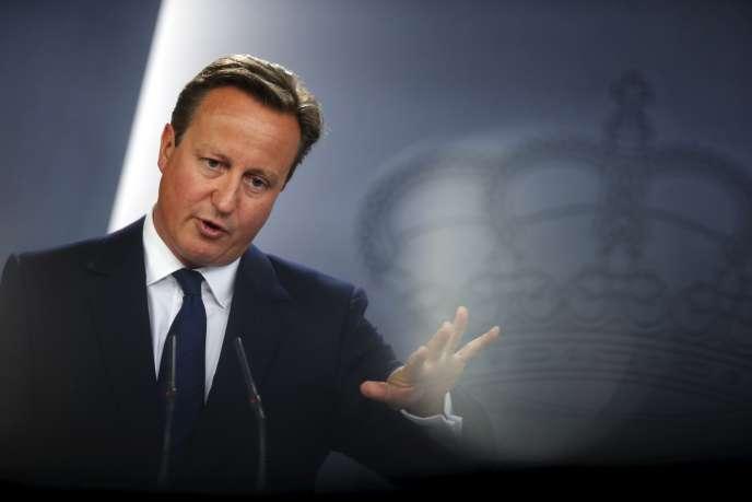David Cameron, à Madrid, le 4 septembre.