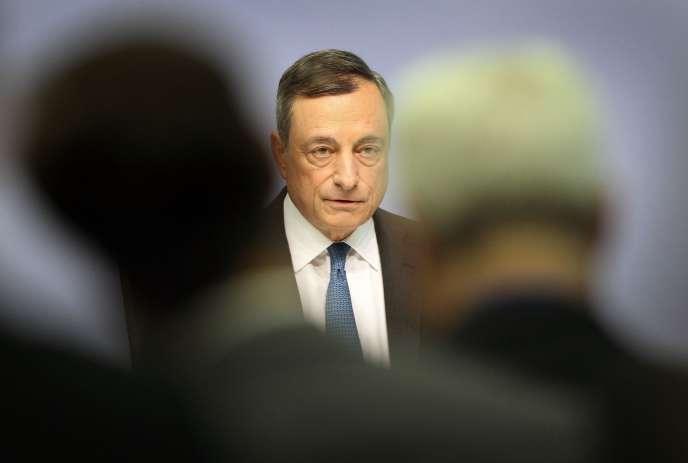 Le président de la Banque centrale européenne, Mario Draghi, le 3 septembre, à Francfort.