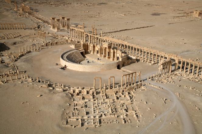 Le site de Palmyre avant les destructions (photo prise le 13 janvier 2009).