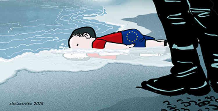 Le réseau international de dessinateurs Cartooning for peace publie régulièrement des croquis sur le blog Libérons les crayons !, hébergé par «Le Monde». Ici, le dessin de l'Espagnol Elchicotriste.