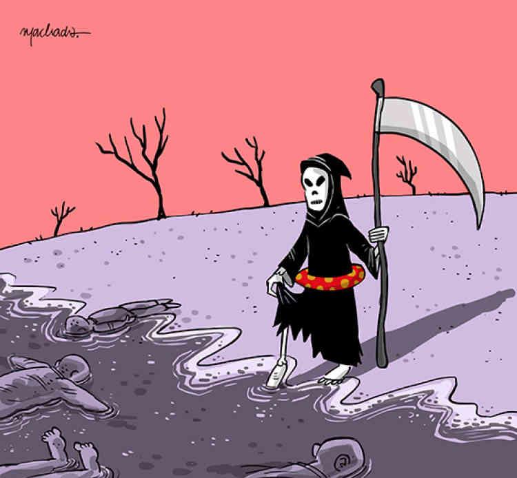 Le réseau international de dessinateurs Cartooning for peace publie régulièrement des croquis sur le blog Libérons les crayons !, hébergé par «Le Monde». Ici, le dessin du Brésilien Machado.