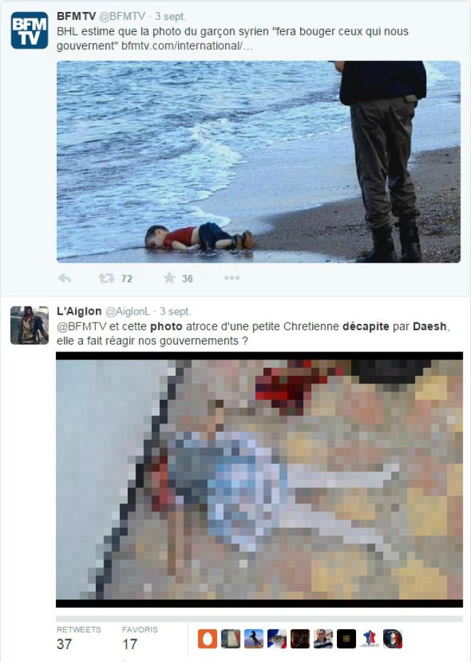 Exemple d'utilisation de cette image de fillette décapitée en