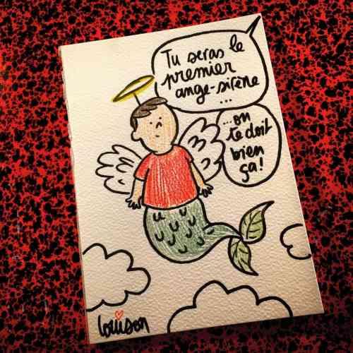 La dessinatrice de presse Louison a rendu hommage à Aylan Kurdi sur son compte Twitter : «Parce que la photo de ce bébé syrien est maintenant un fait d'histoire, cela méritait un dessin. En plus des larmes.»
