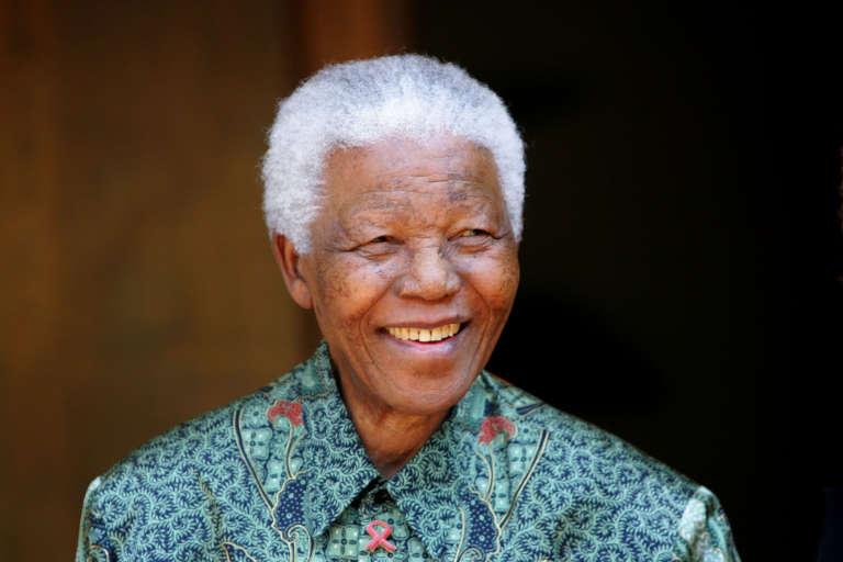 Nelson Mandela en 2005 à Johannesburg.