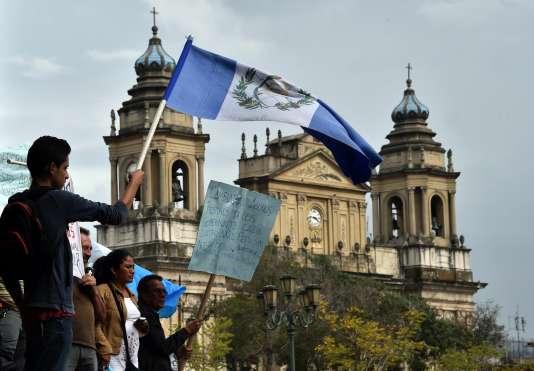Manifestations à la veille des élections générales au Guatemala, le 5 septembre.