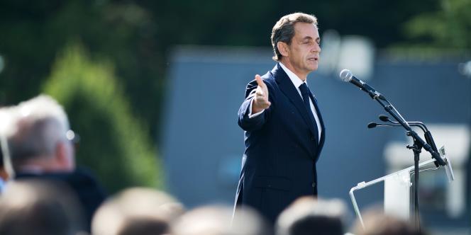 Nicolas Sarkozy lors de son intervention à La Baule, le 5 septembre.
