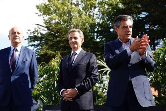 Alain Juppé, Nicolas Sarkozy et François Fillon rassemblés à La Baule samedi.