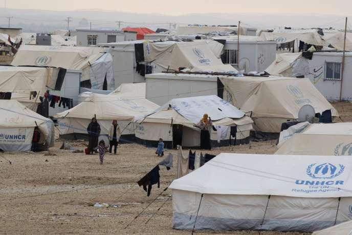 Un camp de réfugiés syriens à Zaatari en Jordanie en janvier 2015.