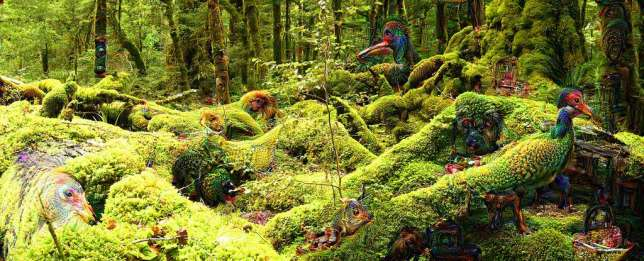 Une forêt, vue par Deep Dream.