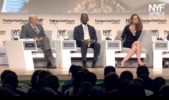 Une scène du New York Forum Africa à Libreville fin août 2015. Session intitulée