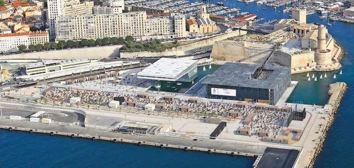 Vue générale du projet marseillais d'accueil des compétitions de voile en cas de victoire de la candidature de Paris aux Jeux de 2014.