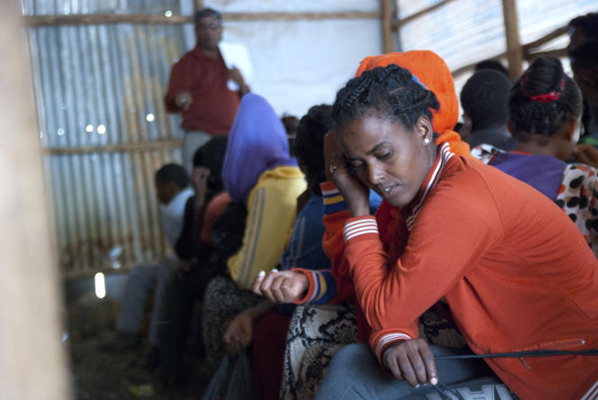 A Endabaguna, près de la frontière éthiopienne, des réfugiés érythréens attendent d'être enregistrés.