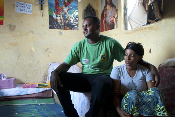 Solomon et son épouse dans le camp de réfugiés d'Hitsats, en Ethiopie.