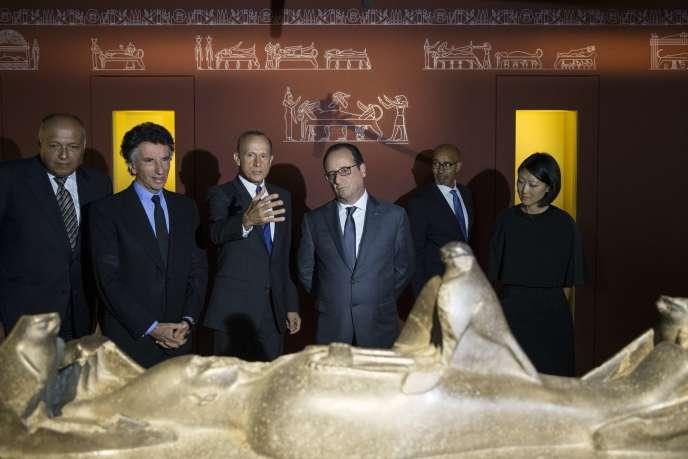 François Hollande, à l'Institut du monde arabe, le 7 septembre 2015.