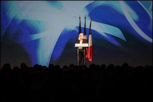 Lors de l'université d'été du Front national, à Marseille, le 6 septembre.