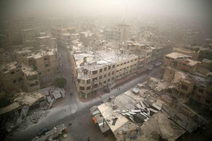 Les rues de Douma, à l'Est de Damas en Syrie le 7 septembre 2015.
