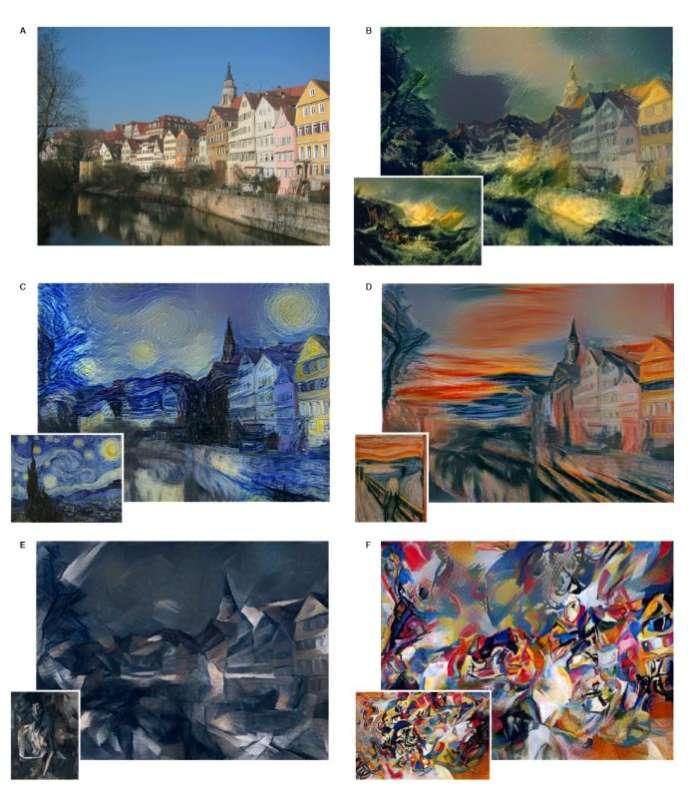 Le programme peut transformer n'importe quelle image et l'adapter dans le style d'un peintre.