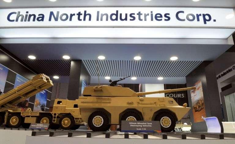 Le stand de Norinco (China North Industries Corp Norinco) au salon de l'armement de Villepinte, en 2010.