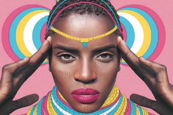 Oeuvre de la série Afro-Polis de l'artiste Pierre-Christophe Gam