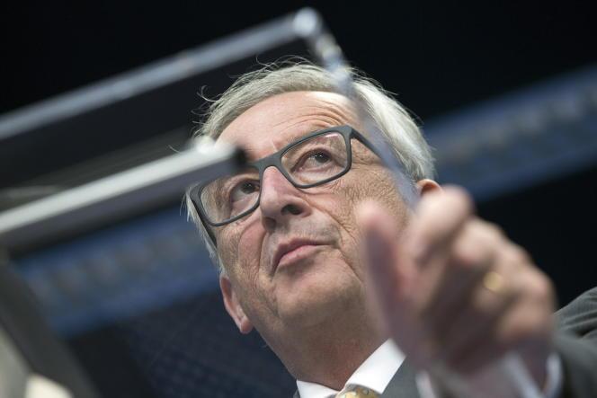 Jean-Claude Juncker, président de la Commission européenne, lors d'une conférence de presse des dirigeants de la zone euro, le 7 juillet 2015.