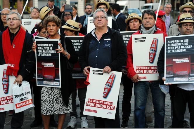 Manifestation des buralistes, mardi 8 septembre, à Toulouse.