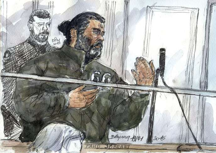 Fahd Jobrani, le 19 janvier, lors de son premier procès à Paris.