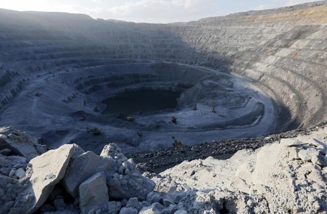 Mine de Vostochny, près de Krasnoyarsk, dans l'est de la Sibérie en juin.