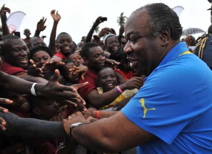 Le président gabonais Ali Bongo Ondimba, à Libreville en 2012.