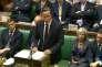 Le premier ministre britannique, David Cameron, devant la Chambre des communes, à Westminster, lundi 7septembre.