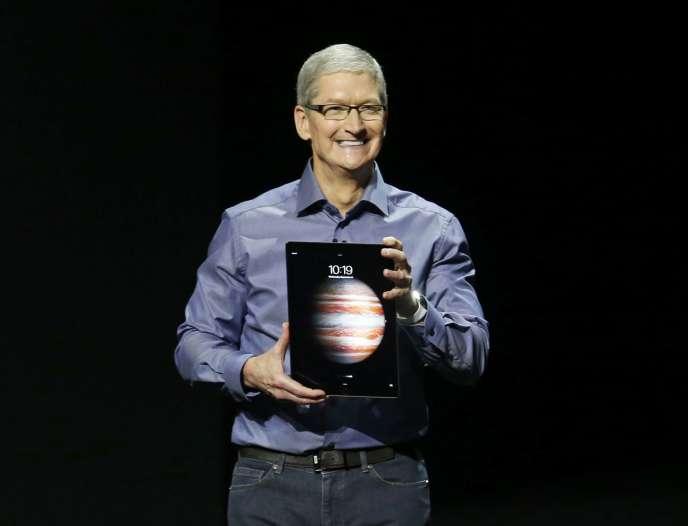 Tim Cook présente l'iPad Pro, le 9septembre.