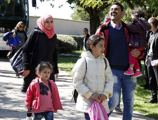 Une famille de réfugiés syriens vient d'arriver à Cergy-Pontoise (Val-d'Oise),  le 9 septembre.