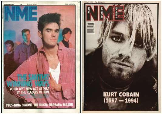 Anciens numéros de l'hebdomadaire«NME».