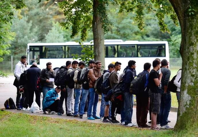 Des réfugiés dans la ville allemande de Celle, le 4 septembre 2015.