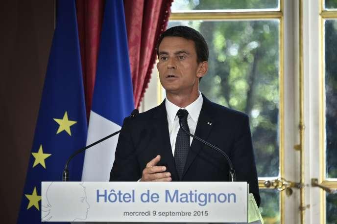 Manuel Valls, à Matignon, le 9 septembre.