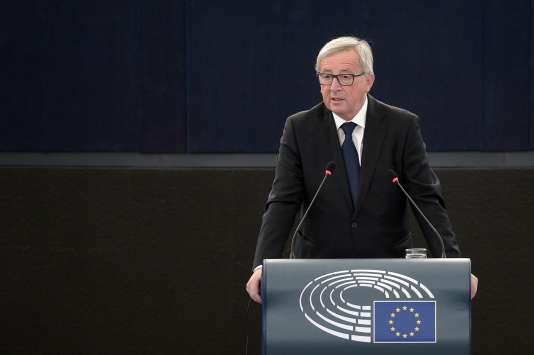 Jean-Claude Juncker à Strasbourg, mercredi.