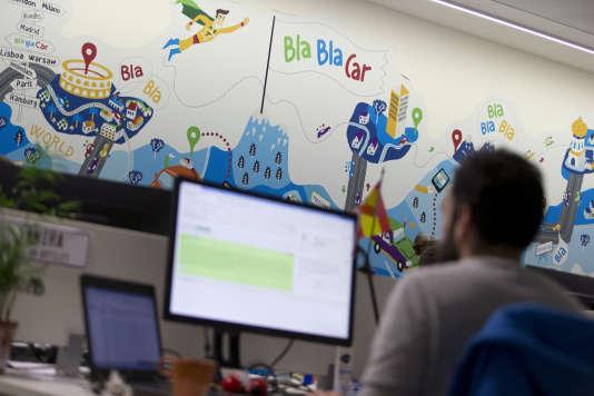 Au siège de Blablacar, à Paris. En juillet 2014, Blablacar avait déjà levé 100 millions de dollars.
