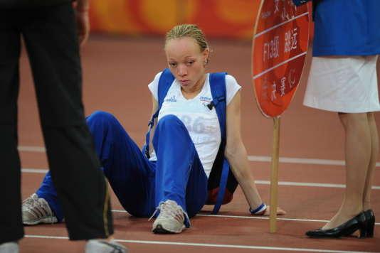 Nantenin Keita lors des Jeux paralympiques de Pékin (Chine) en 2008.