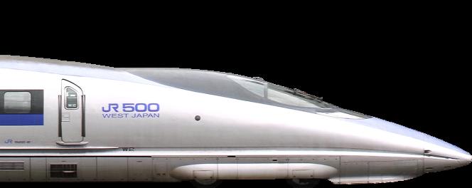 Le Shinkansen 500 dont le nez est inspiré de la tête du martin-pêcheur.