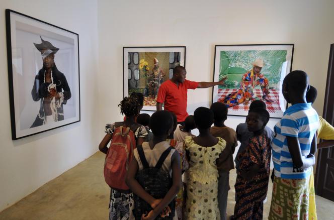 Exposition à la fondation Zinsou, à Ouidah (Bénin), en 2014.