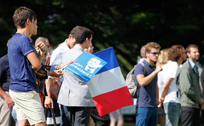 Des militants du parti Les Républicains, à La Baule (Loire-Atlantique) pour les universités d'été du parti, le 5 septembre.