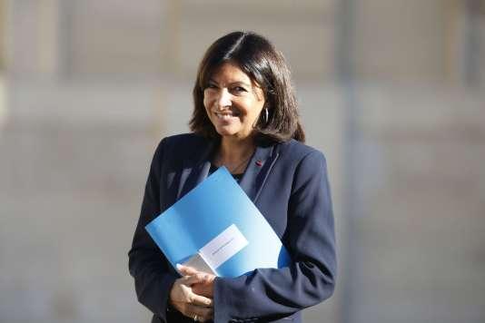 La maire de Paris, Anne Hildalgo, à l'Elysée, en septembre 2015.