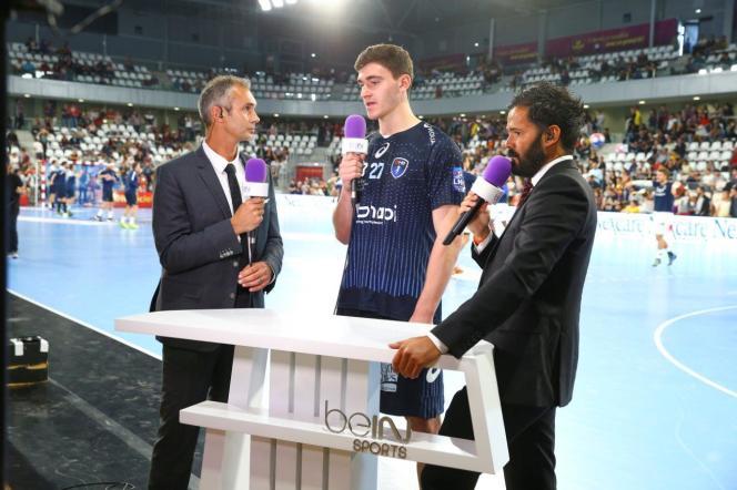 François Xavier Houlet et Thomas Villechaize lors du Trophées des champions de handball à Nantes