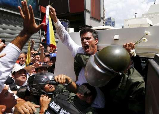 L'opposant Leopoldo Lopez, le 18 février 2014 à Caracas.