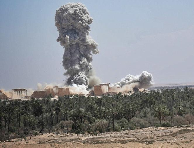 Une image de destruction du temple Bêl diffusée par le site du magazine